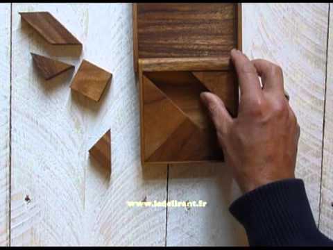 casse tête bois le tangram box grand model