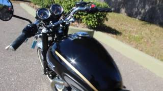 9. SOLD! 2014 Triumph Bonneville T100 Cafe Racer Motorcycle Start up and Walk Around