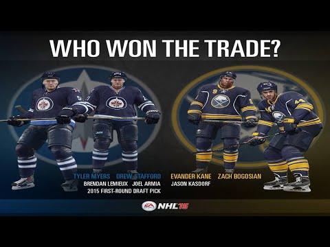 My Thoughts On Buffalo-Winnipeg Trade w/ NHL 15 Simulation!