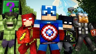SUPER HERO LUCKY DIP MEGA OP WEAPONS LUCKY BLOCK MONEY HUNT - MINECRAFT LUCKY BLOCK MODDED MINIGAME