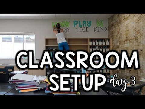 Classroom Setup DAY 3 - Teacher Vlog