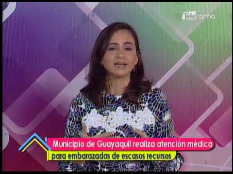 Municipio de Guayaquil realiza atención médica para embarazadas de escasos recursos