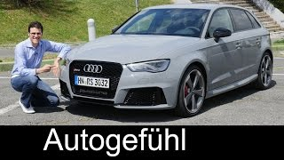 New 2016 Audi RS3 Sportback Quattro FULL REVIEW Test Driven Hot Hatch 367 Hp - Autogefühl