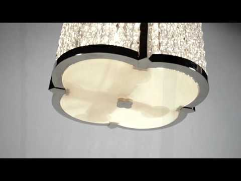 Video for Ballston Polished Nickel Eight-Light Pendant