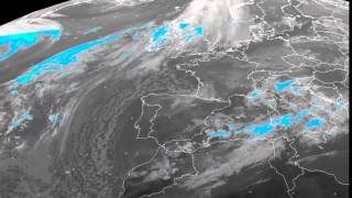 Europe percipation/clouds timelapse 23-11-2015