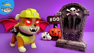 Video Paw Patrol Rubble became Halloween ghost. Special Halloween Special Story MP3, 3GP, MP4, WEBM, AVI, FLV Maret 2019