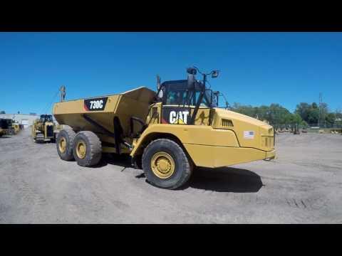 CATERPILLAR アーティキュレートトラック 730C equipment video haVEJoE4WfM