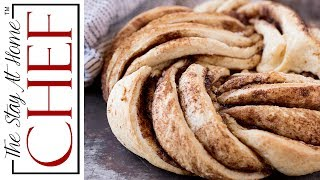 Cinnamon Roll Twist Bread gives you an impressive way to present the classic cinnamon roll flavors. And it's a lot easier than it looks!________________________________________↓↓↓↓↓↓ CLICK FOR RECIPE ↓↓↓↓↓↓↓↓ _______________________________________Cinnamon Roll Twist Bread INGREDIENTS DOUGH:1 cup warm milk1 tablespoon instant dry yeast2 tablespoons white granulated sugar1 teaspoon salt3 tablespoons salted butter, softened1 large egg3 cups all-purpose flour FILLING:1/2 cup salted butter, softened1 cup brown sugar2 tablespoons ground cinnamon   INSTRUCTIONS 1. In the bowl of a stand mixer, combine warm milk, yeast, sugar, salt, butter, and eggs. Add in flour. Using a dough hook, turn the mixer on to a low speed. 2. Once the flour starts to incorporate into the dough, increase the speed to a medium range. Add more flour as necessary so that the dough pulls away from the sides of the bowl. The dough mixture should be tacky, but not stick to your hands. It should be soft. Add more or less flour until the dough reaches the desired consistency. The amount of flour you add in bread making is always an approximation and you should go by feel. 3. Transfer the dough to a lightly greased mixing bowl. Cover with a towel and let rise until double in size, about 1 hour. 4. Lightly grease a baking sheet. Punch down the dough and roll into a 12inch by 18inch rectangle. 5. Brush the dough with 1/2 cup softened butter. In a small bowl, combine the brown sugar and cinnamon. Sprinkle on top of the melted butter. Roll up tightly lengthwise so you have one long roll. Use a sharp knife to slice the dough in half lengthwise so that you have to long pieces. 6. Twist the pieces together tightly and pull into a circular wreath, pinching the two ends together. 7. Place the wreath onto a parchment lined baking sheet. Cover and let rise 30 to 45 minutes. 8. Preheat oven to 325 degrees. Bake the bread for about 20-25 minutes, until just kissed with brown on top.     Thanks for watching! Don't forg