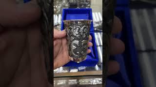 Серебряный стакан «Узор»