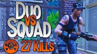 27 KILLS DUO VS SQUAD COM O FALL (FORTNITE BR) Softe