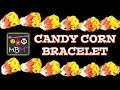 NEW Rainbow Loom Band Candy Corn Bracelet for Halloween