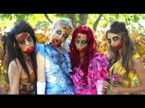 How To Make Zombie Disney Princess Makeup and Costumes!