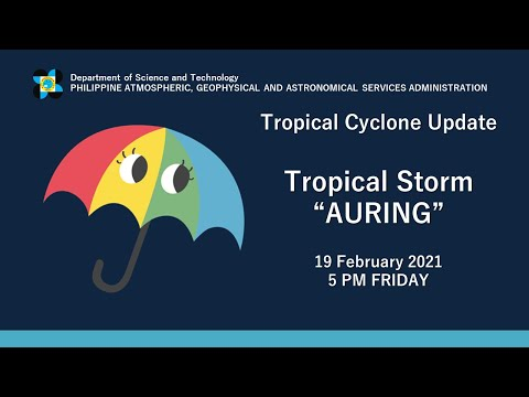 "Press Briefing: Tropical Storm ""#AURINGPH"" Friday, 5PM February 19, 2021"
