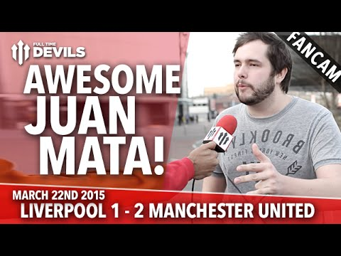 Awesome Juan Mata! | Liverpool 1 Manchester United 2 | FANCAM