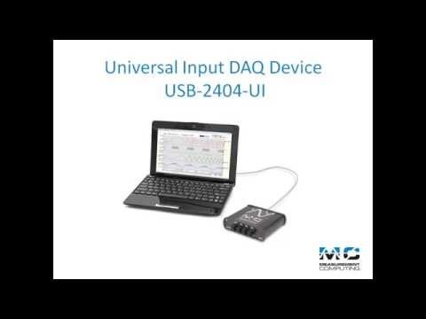 2404 - Learn more at: http://bit.ly/MFJ8HX The USB-2404-UI provides four channels of 24-bit universal analog input with integrated signal conditioning. The device c...