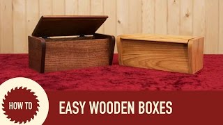 How To Make A TV Remote Box With Hidden Dowel Joinery