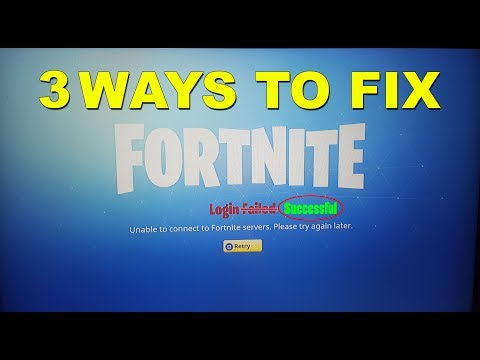 [SOLVED] 3 WAYS TO FIX LOGIN FAILED ERROR FORTNITE BATTLE ROYALE