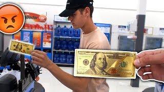 USING FAKE MONEY AT WALMART PRANK (ILLEGAL) | David Vlas