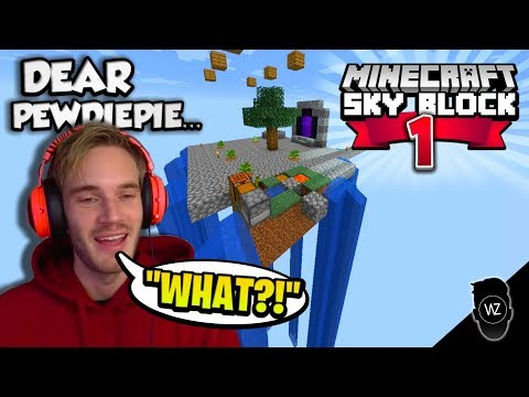 Dear PewDiePie... Here's How You Play Skyblock (Minecraft Skyblock #1)