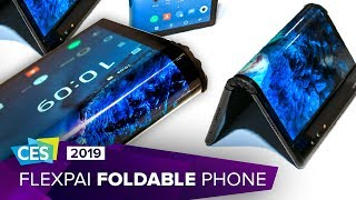 Hands-on with the Royole FlexPai foldable phone at CES 2019