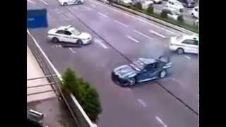 Orosz rendőrök autós szívatása