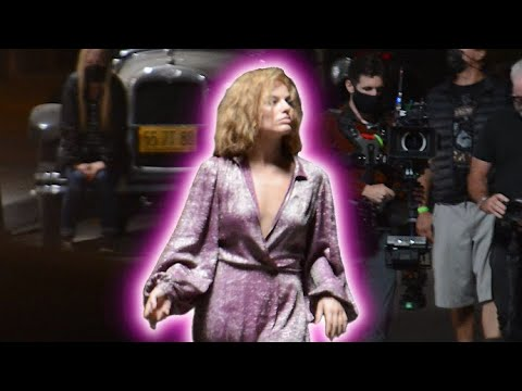 Margot Robbie Sparkles In Plunging Dress On The Set Of 1920s Hollywood Drama 'Babylon'