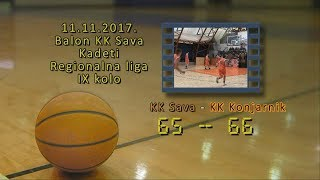 kk sava 2 kk konjarnik 65 66 (kadeti2, 11 11 2017 ) košarkaški klub sava