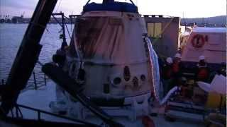 SpaceX Dragon CRS-2 And NASA's Science Cargo Arrive In California After Splashdown