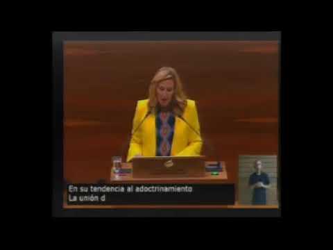 Ana Beltrán, durante su intervención en el debate del estado de la Comunidad