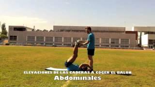 Inferiores con elevación de cadera con balón medicinal