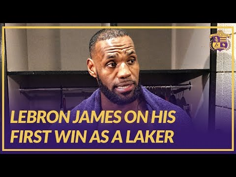Video: Lakers Post Game: LeBron James, Lakers Win First Game Of 2018-19 NBA Season Against Suns