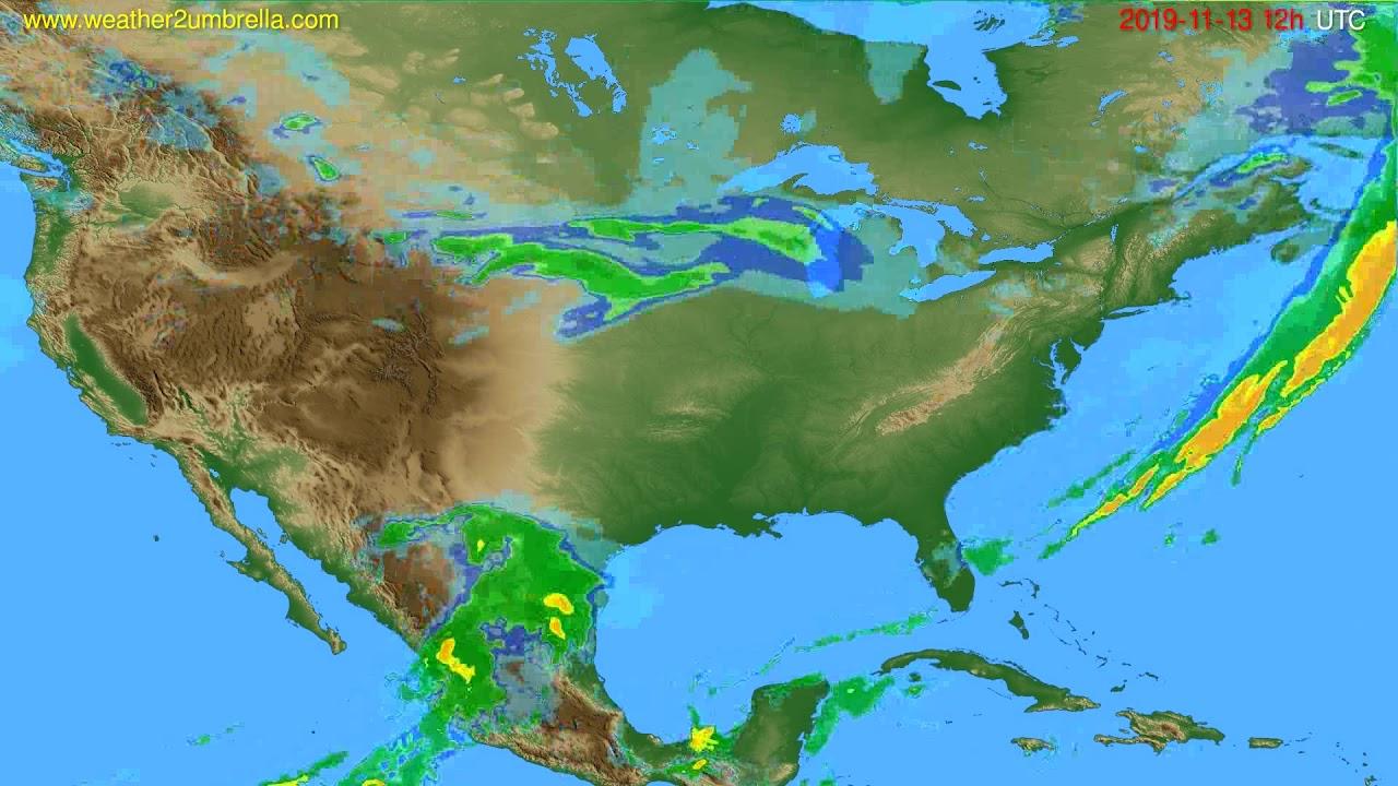 Radar forecast USA & Canada // modelrun: 00h UTC 2019-11-13
