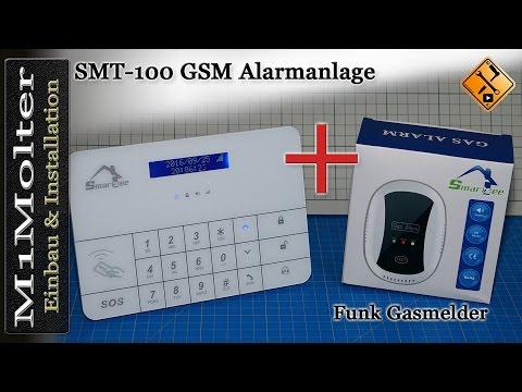 Installation Funk Gasmelder an der Smartsee SMT-100 GSM Funk Alarmzentrale - M1Molter