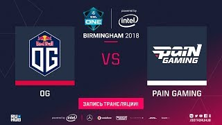 OG vs paiN, ESL One Birmingham, game 2 [Lum1Sit, Jam]