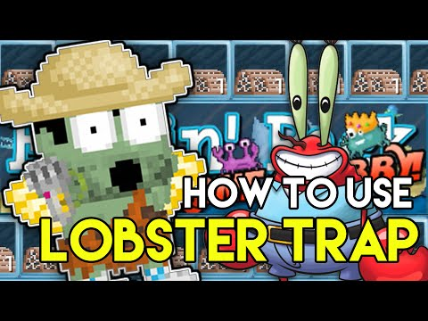 Growtopia - How to Use LOBSTER TRAP, Wohoo Mr. Crab is coming! - Watch the video