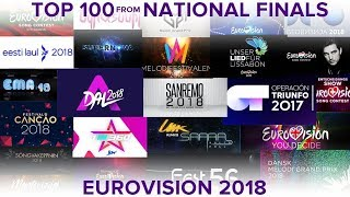 Video TOP 100 National Finals   EUROVISION 2018 (All countries) MP3, 3GP, MP4, WEBM, AVI, FLV Juni 2018