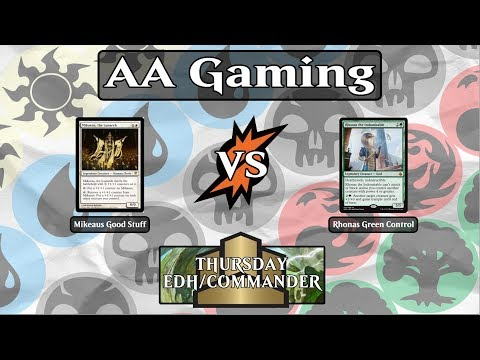 S6 Ep2 - EDH/Commander - Mikaeus, The Lunarch Vs Rhonas The Indomitable