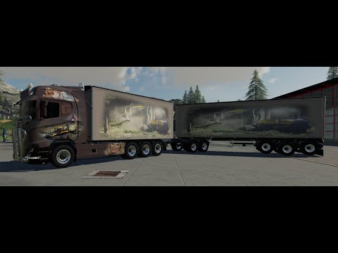 Scaina Woodchips and trailer v1.3