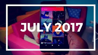Okay, so here are the best Android apps of July 2017. Enjoy.App used in the videoTouchBarhttps://goo.gl/Rd9oqkSeeing AI https://goo.gl/aTk4jhFast Finderhttps://goo.gl/w2UTH1Gratushttps://goo.gl/7GTWAuShabaamhttps://goo.gl/g6mwCTYmusichttps://goo.gl/qMe6S64vidhttps://goo.gl/7JdRC8Apps worth checking outLoopsie https://goo.gl/2GYZwwVpn Hosts (no root) https://goo.gl/TG97h8You can reach me hereWebsite - http://techwiser.com/YouTube - https://www.youtube.com/techwiserFacebook -https://www.facebook.com/techwiserTwitter - https://twitter.com/TechWiserInstagram - https://www.instagram.com/techwiserWhich background music did I use?Waves The Passion HiFi - What We Came To Do.wavhttps://soundcloud.com/joakimkarudWhat camera do I use? Canon 70DWhat Mike do I use?Blue Yeti and Video Mic pro (depends on requirement)What tripod do I use?Manfrotto MVKBFRWhat video editor do I use?Final Cut ProMy computer do I use?iMac 2015 for editing and a ThinkPad for casual work