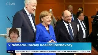 Německo: začínají koaliční rozhovory CDU/CSU a SPD
