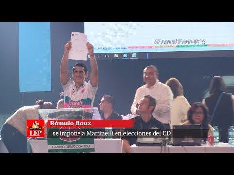 Rómulo Roux se impone a Martinelli en elecciones del CD