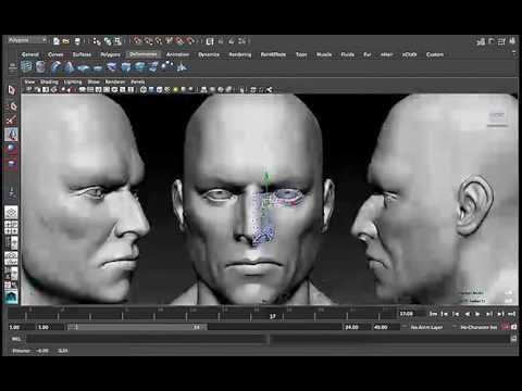 human face 3d modeling maya tutorial