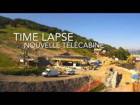 Revivez le chantier de la télécabine de Montalbert à la Plagne