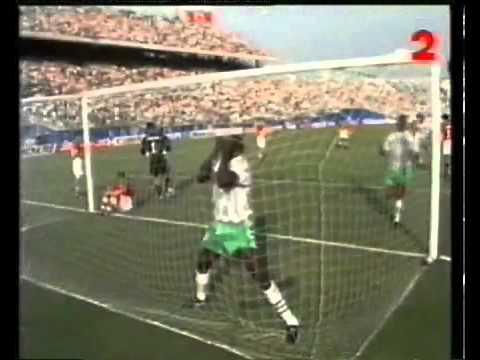 Rashidi Yekini Célébration vs Bulgarie