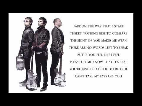 Muse – Can't Take My Eyes Off You ( Lyrics ) HD