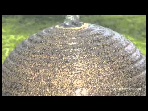 Video for Cannonade Smoked Granite Outdoor Solar LED Floor Fountain