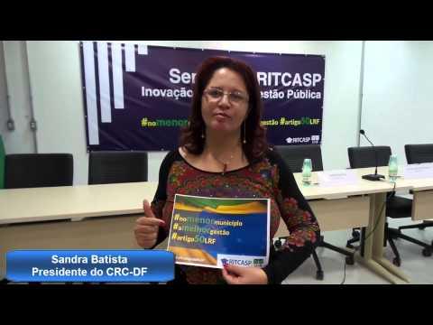 Campanha RITCASP Artigo 50 Sandra Batista Presidente do CRCDF