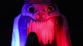 Circus Haunted House Maze Walk Through POV Queen Mary Dark Harbor 2016