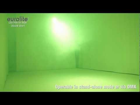 EUROLITE LED PAR-64 RGB 36x5W Short