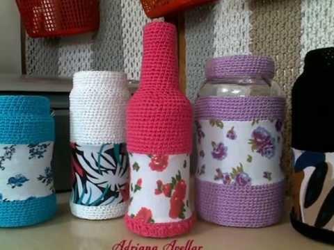 Croche em tecido pra decoração